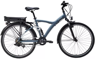 Bicicleta eléctrica azul