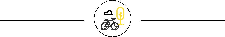 Logo Wifly bicicleta y árbol pequeño