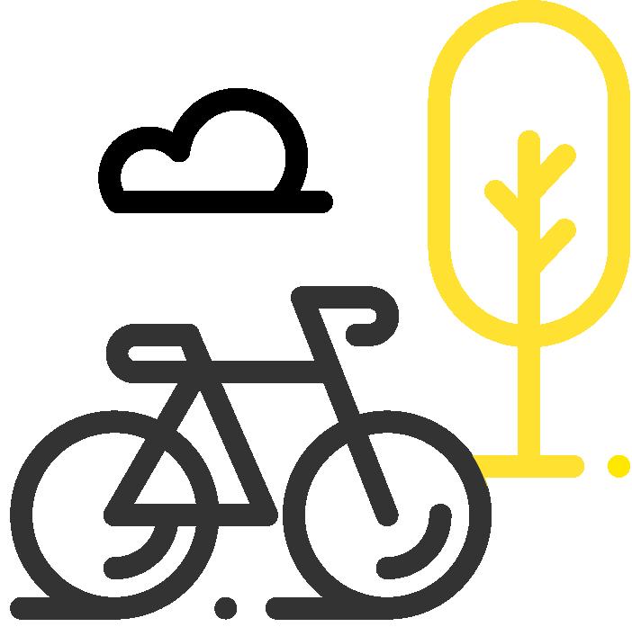 Logo Wifly bicicleta y árbol